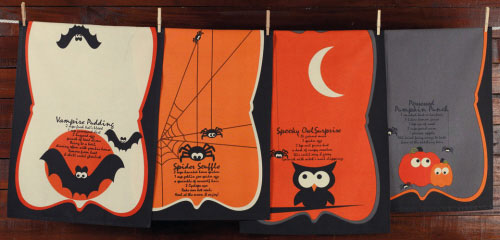 Spooky Owl Surprise Dishtowel, by DII