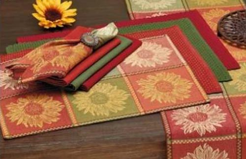 Tuscan Sunflower Jacquard Placemat, by DII