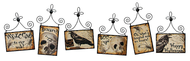 spooky halloween postcard picture ornaments by primitives by kathy - Primitives By Kathy Halloween
