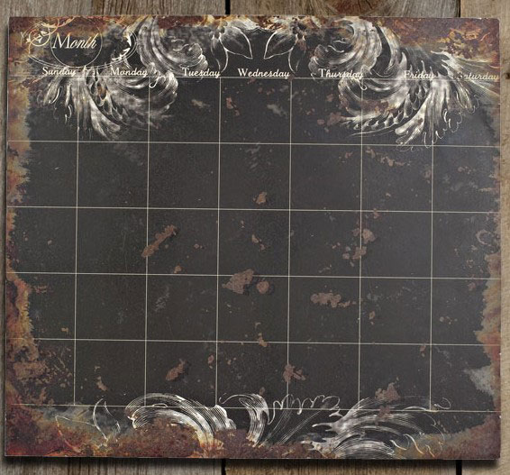 Antiqued Black Perpetual Calendar, by Lone Elm Studios