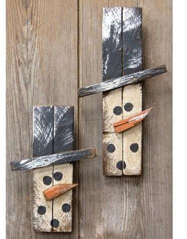 Skinny Lath Snowman Head Hangers