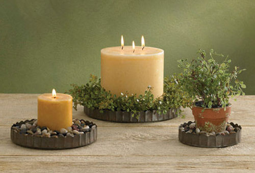 Crimped Candle Pan, by Park Designs