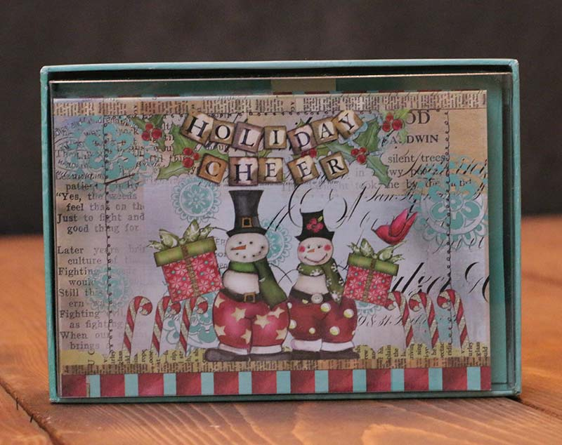 Snowman Friends Artisan Petite Christmas Cards, by Lang - The Weed Patch