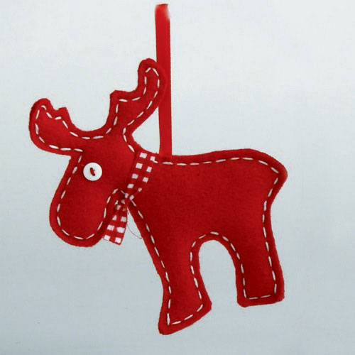 Moose Felt Ornament, by Tag