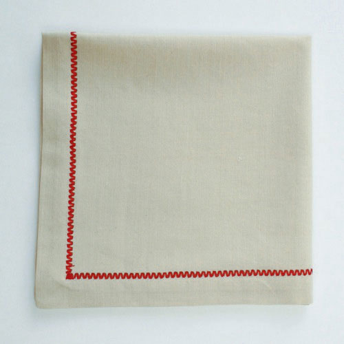 Chalet Napkin with Embroidery, by Tag