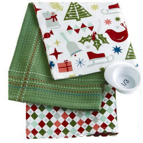 Happy Holidays Dishtowel