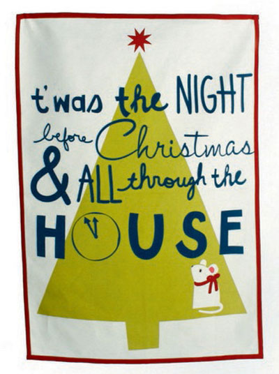 Twas the Night Dishtowel, by Tag
