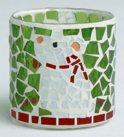 Mouse Mosaic Tealight, by Tag