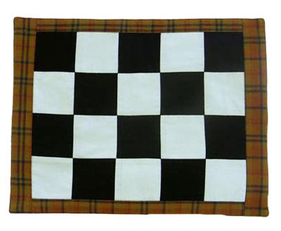 Harvest Time Mini Checkerboard Mat, by Victorian Heart