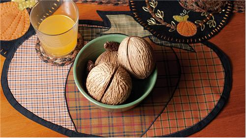 Harvest Time Pumpkin Placemat, by Victorian Heart