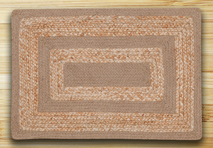 Raw Sugar & Natural Braided Jute Rug, by Capitol Earth Rugs