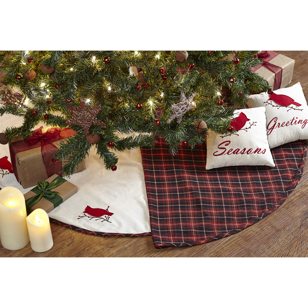 Season s greetings mini tree skirt by nancy nook the
