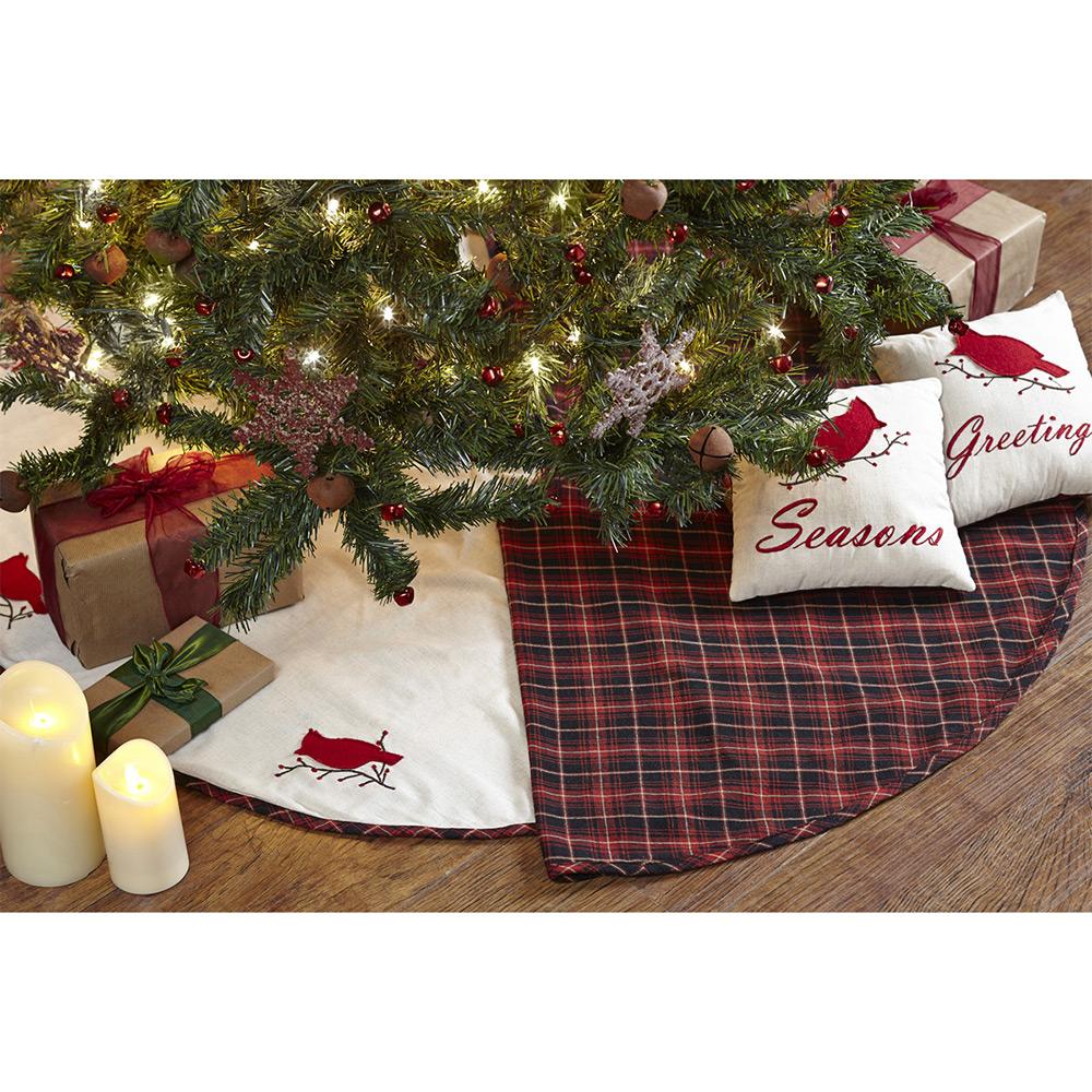 Season's Greetings Tree Skirt, by Nancy's Nook