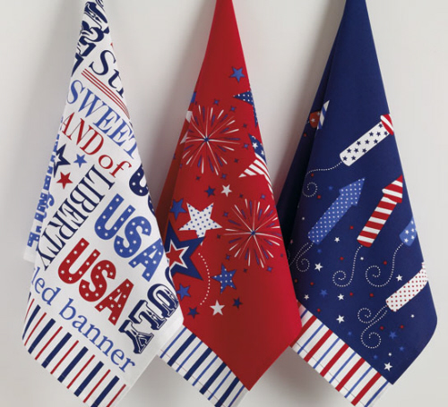 Star Spangled Printed Dishtowel, by DII.