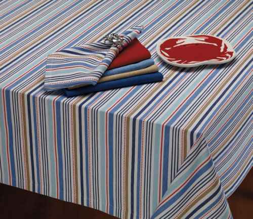 Boat Stripe Tablecloth, by DII