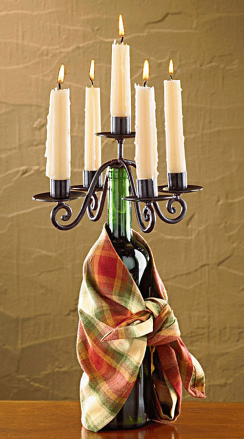 Candelabra Wine Bottle Topper, by Park Designs