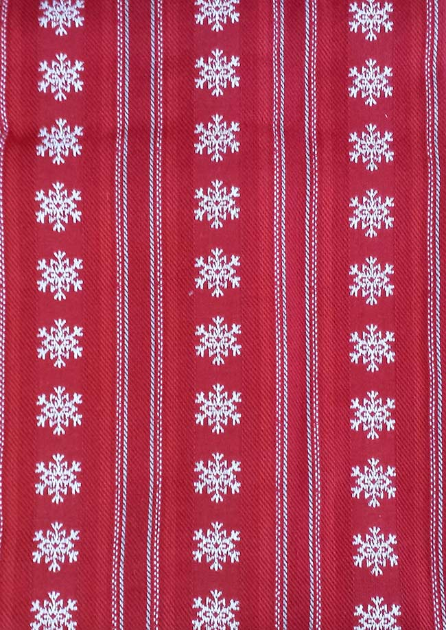 Snowflake Dobby Stripe 52 inch Jacquard Tablecloth, by DII