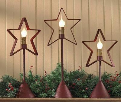 Red Star Candlestick Lamp, by Park Designs
