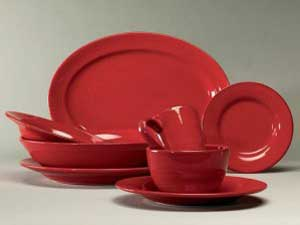 Sonoma Dinnerware in Red, by Tag
