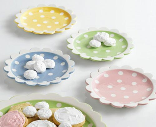 Tea Party Polka Dot Dessert Plate