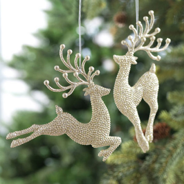 Silver Leaping Deer Ornament, by One Hundred 80 Degrees.