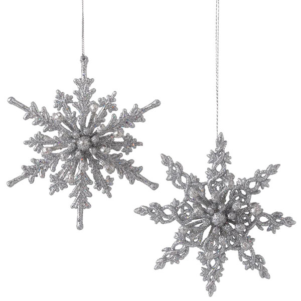 Silver Snowflake Ornament, by Seasons of Cannon Falls