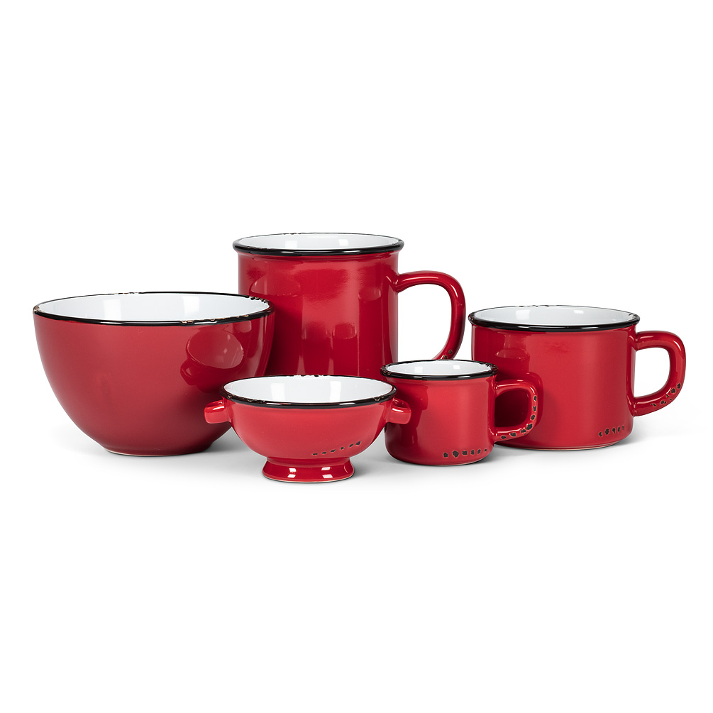Red Stoneware Enamel