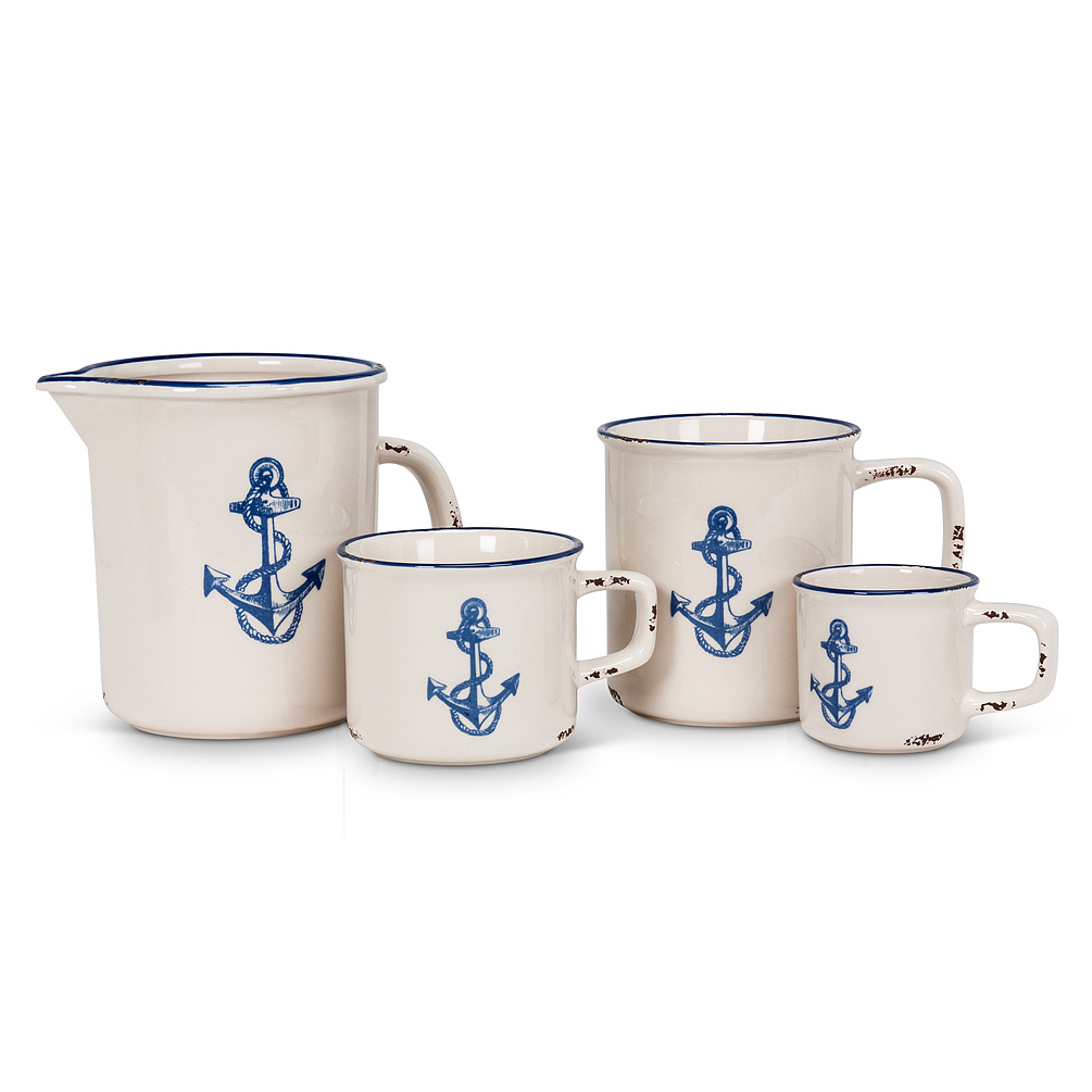 Anchor Cappuccino Mugs Set Of 6 The Weed Patch