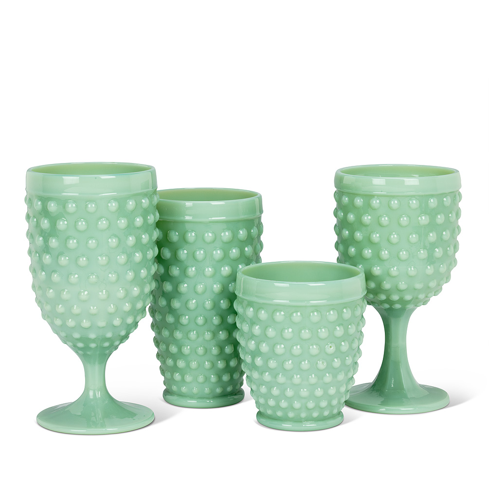 Jade-look Hobnail Glass