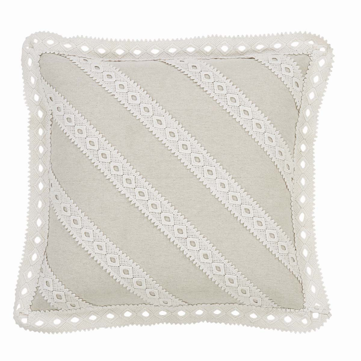 Margot White Lace Decorative Pillow Cover - The Weed Patch