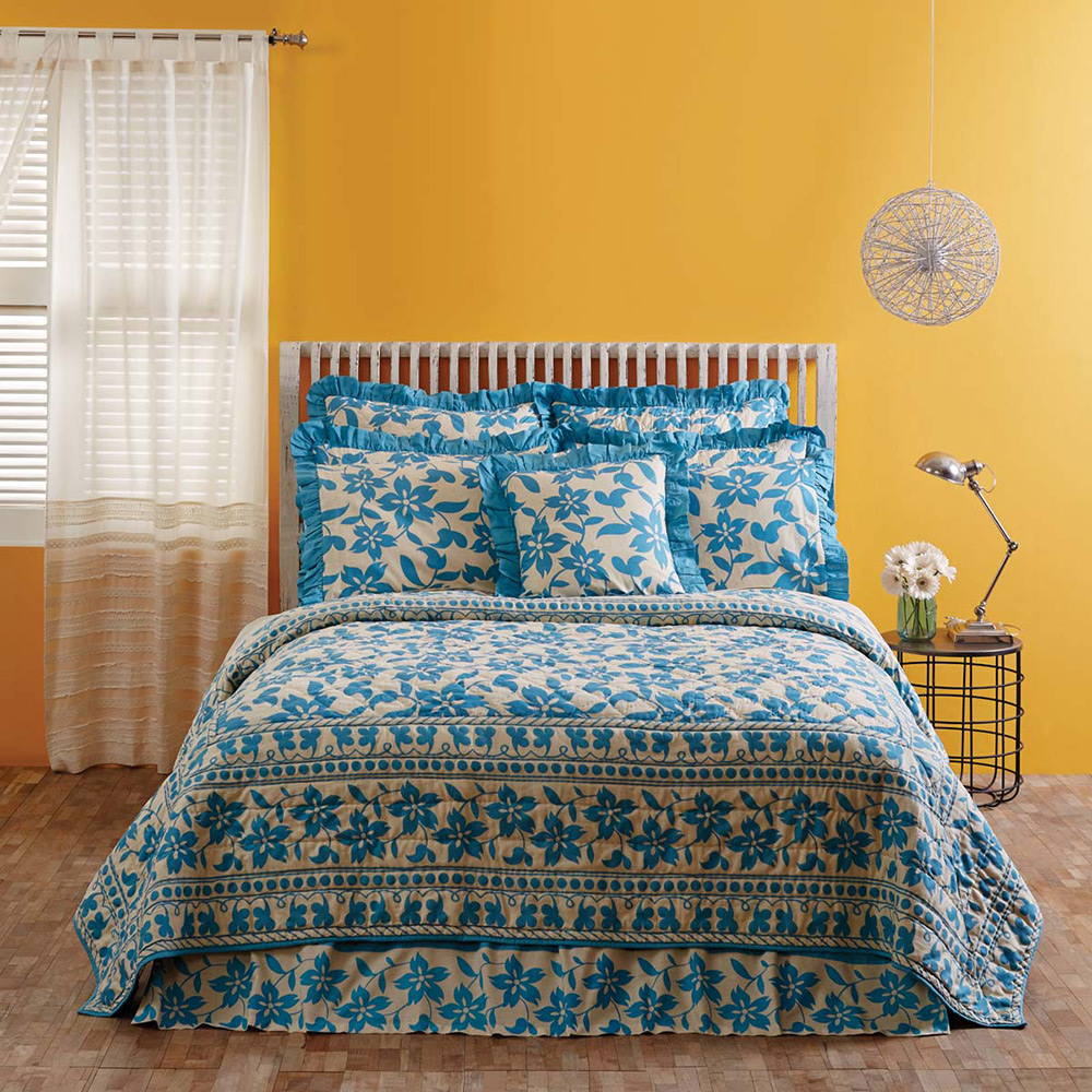 Briar Azure Quilt, by VHC Brands.