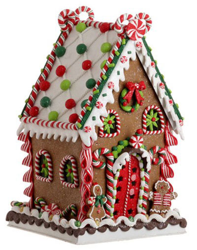 Cookie Confection Gingerbread House, by Raz Imports