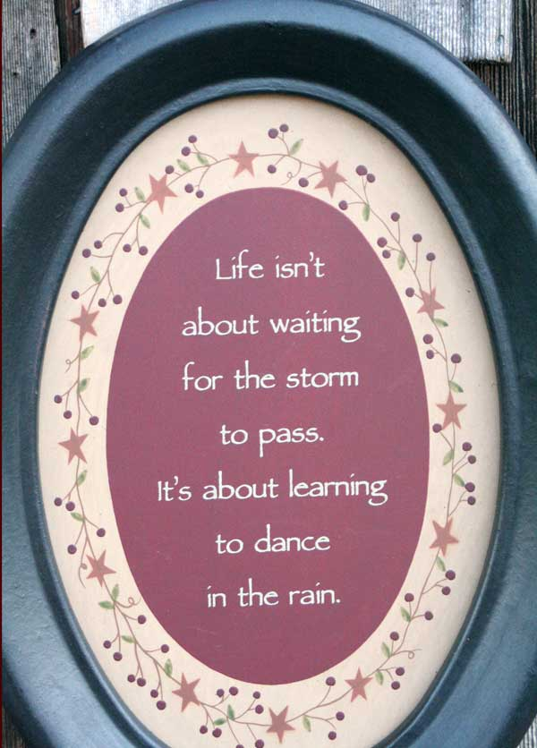 Dance In The Rain Oval Frame
