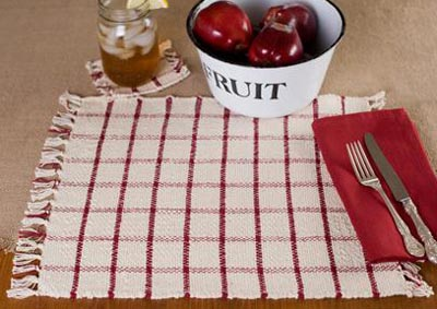 Clayton Red Rib Weave Collection, by Victorian Heart