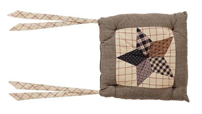 Bingham Star Chair Pad, by Victorian Heart