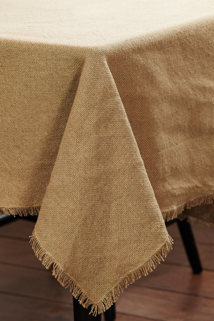 Burlap Natural Tablecloth, by Victorian Heart