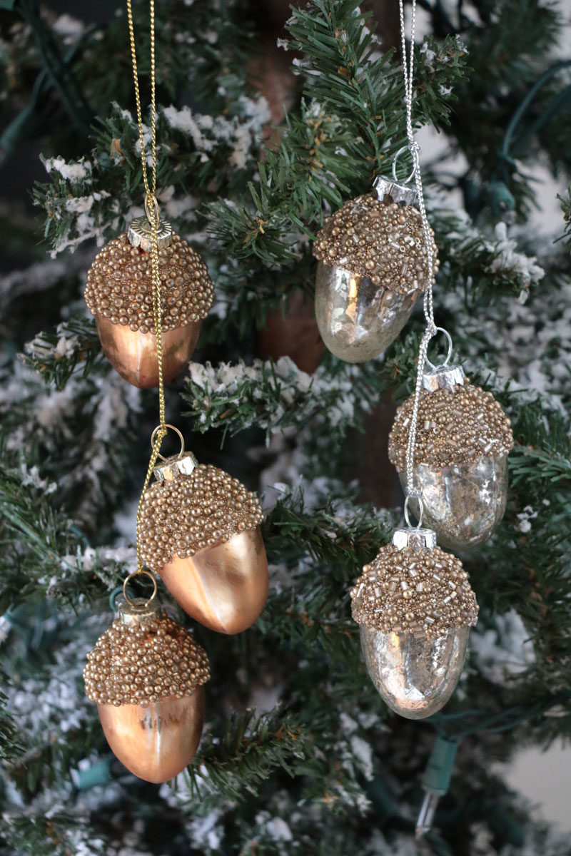 Antiqued Acorn Cluster Ornament By Raz The Weed Patch