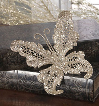 Clip-on Butterfly Ornament, by Raz Imports