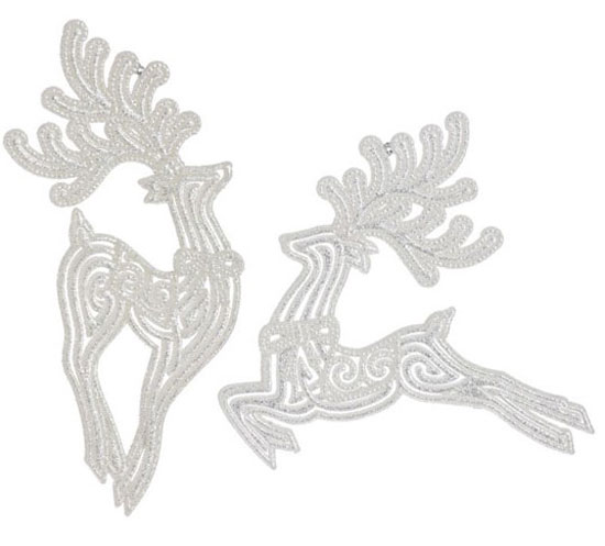 Leaping Deer Ornament, by Raz Imports