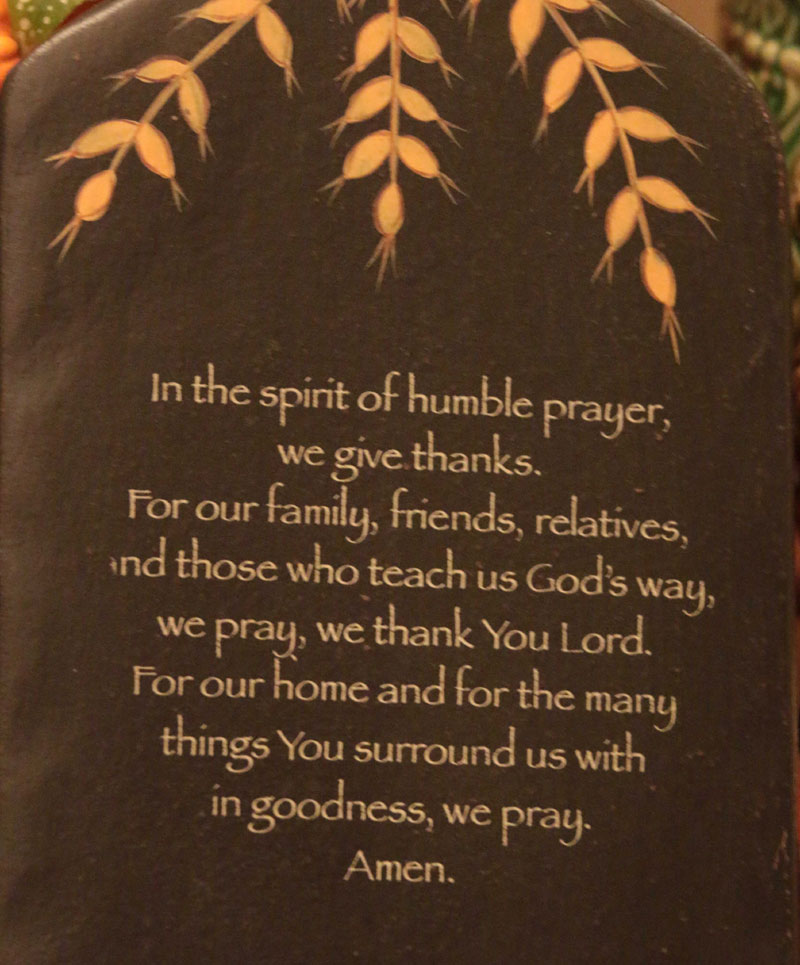 Humble Prayer: Humble Prayer Hanging Paddle, By The Hearthside Collection