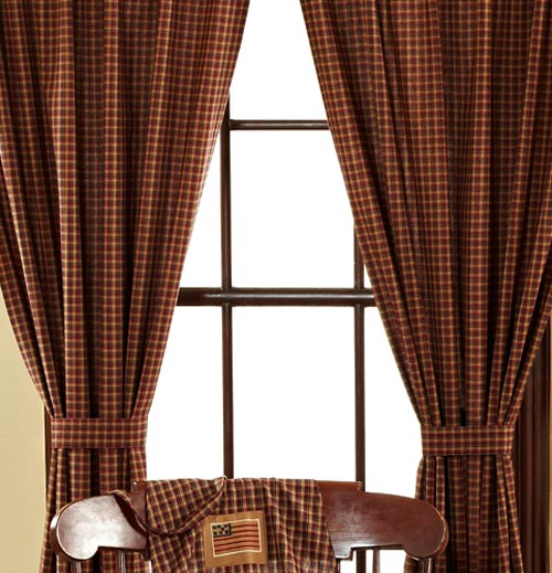 Patriotic Patch Curtain Panels, by Victorian heart