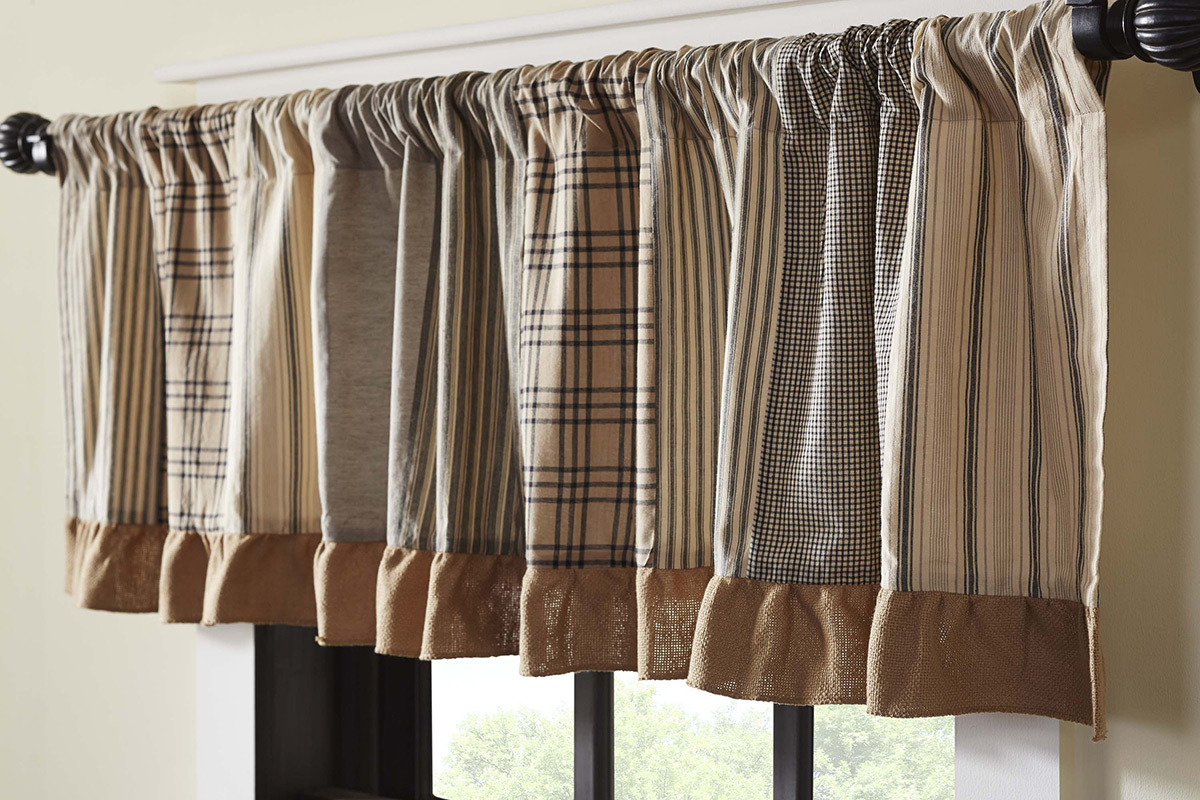 Sawyer Mill Patchwork Valance, by VHC Brands.