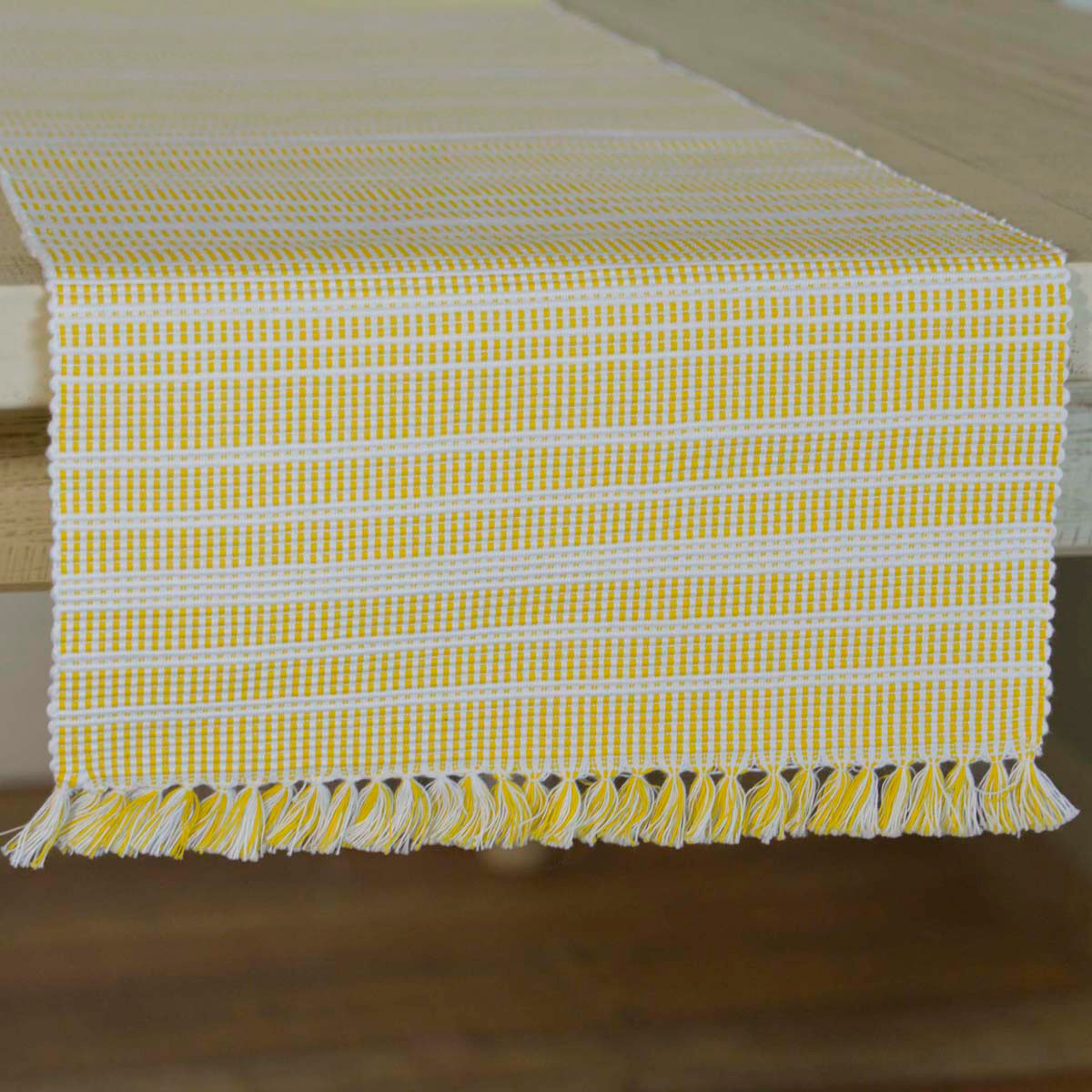 Madeline Yellow 90 Inch Table Runner Madeline Collection