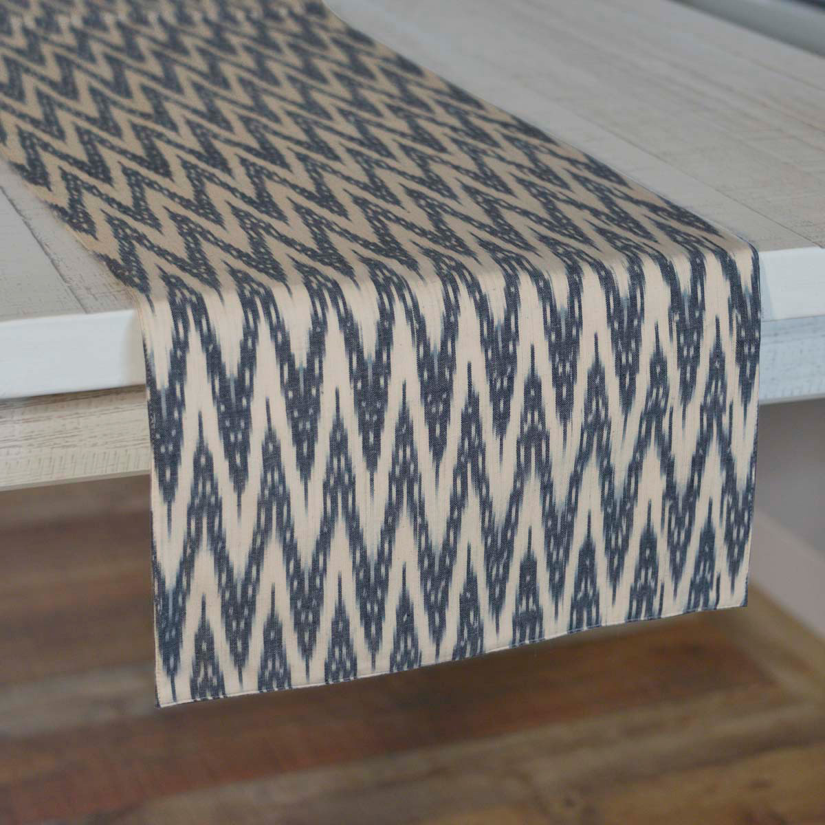 Alexis Ikat 90 inch Table Runner, by VHC Brands