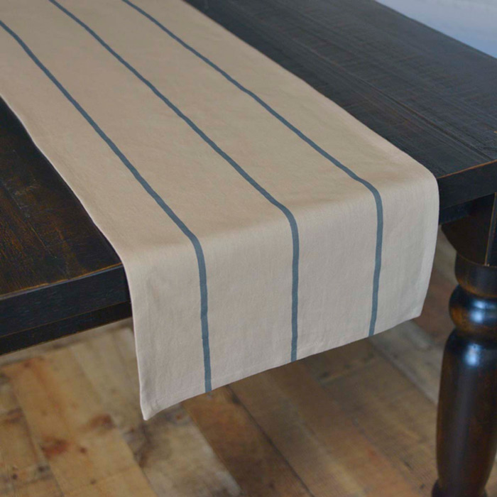 Lauren Steel Blue 90 Inch Table Runner ...