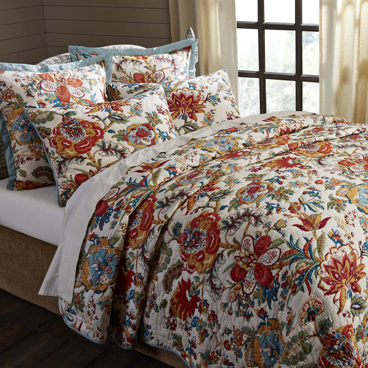 Meredith Floral Quilt, by VHC Brands.
