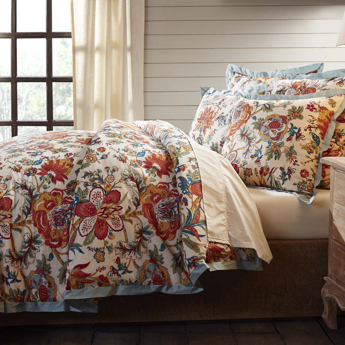 Meredith Floral Duvet Cover, by VHC Brands.
