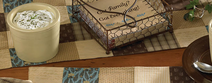 Scrapbook Tablerunner, by Park Designs
