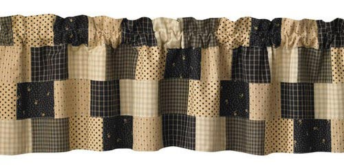 Peppermill Lined Patch Valance, by Park Designs