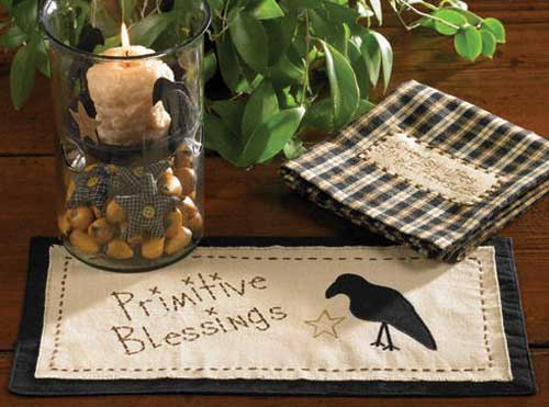 Cider Mill Accent Mat - Crow